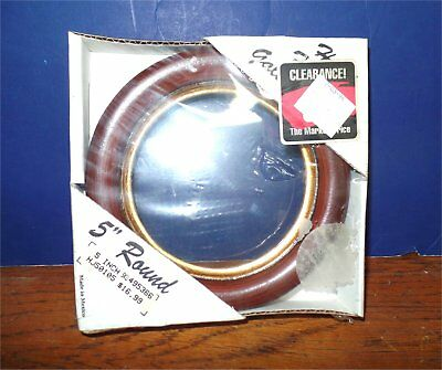 "wood round picture frame 5"" unopened"
