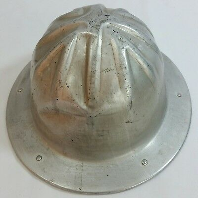 Vntg BF McDonald Aluminum Safety Hard Hat Oilfield Construction ~ Miner's hat