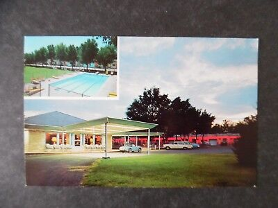 ca1960 Tucumcari New Mexico Cactus Motor Lodge Route 66 Motel Postcard