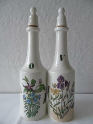 Portmeirion Botanic Garden Canterbury Bells & Purple Iris Vinegar & Oil Set 8.7""