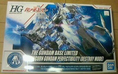 HG 1/144 Gundam base limited Unicorn Gundam Perfectibility DestroyMode Model Kit