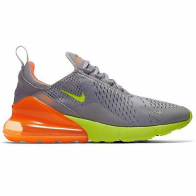 Nike Air Max 270 Atmosphere Grey Volt Orange Ah8050 012 Us Mens Sz 11