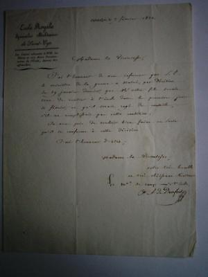 19thC France Military Documents Mr Dufour Promotion & military school & Transfer