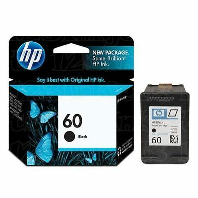 HP #60 Black Ink Cartridge CC640WN GENUINE NEW!