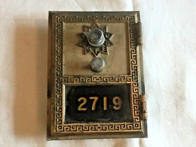 Vintage US Post Office Mail PO Box Door Combination Lock #2719 ~ National 1964