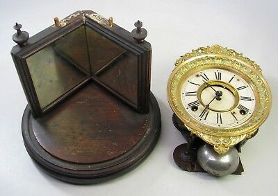 Antique Ansonia Crystal Regulator Clock Parts Repair
