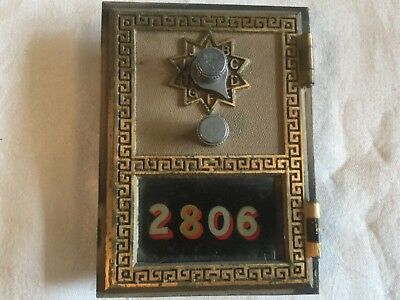 Vintage US Post Office Mail PO Box Door Combination Lock #2806 ~ National 1964