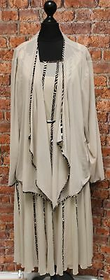 CHESCA Beige Sheer 3 Piece Mother Of The Bride Suit size UK 20 / 22 - S36