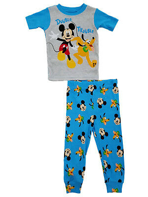 Disney Infant Boys 2-Piece Mickey Mouse   Pluto Double Trouble Pajama Set f3ed17bfd