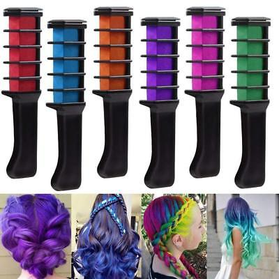 Coosa Temporary Hair Chalk Comb 6 Pcs Colorful and Washable Hair Chalk Set For G