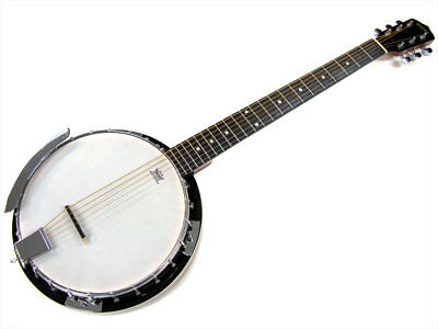 BRYDEN SBJ624 6 STRING BANJO Striped Mahogany Resonator Mahogany Neck