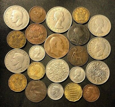 Vintage Great Britain Coin Lot - 1773-1967 -  23 Excellent Coins - Lot #116