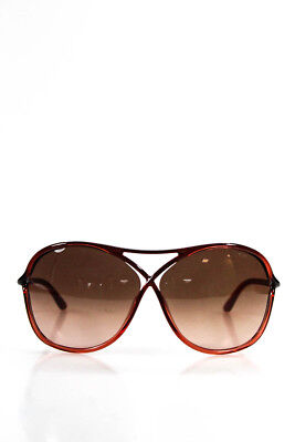 Tom Ford Womens Sunglasses Vicky TF 184 50F Red Black Butterfly NEW $338 IN CASE