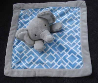 Levtex Baby Blue Grey Elephant Security Blanket NWOT