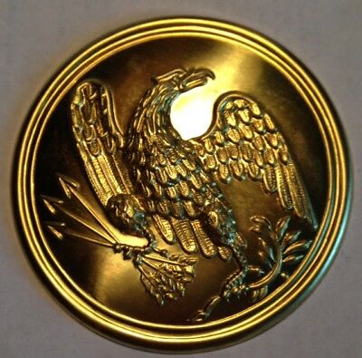 Pre-Civil War,  A Brass 1824 USMC Large Eagle Crossbelt Plate, Restrike/Repro?