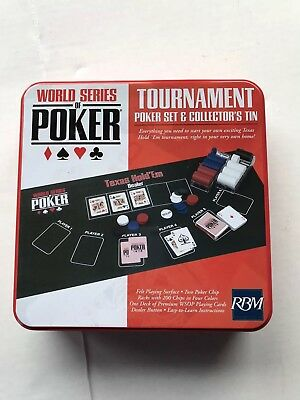 New World Series Of Poker Tournament Series Poker Set In Collectors Tin