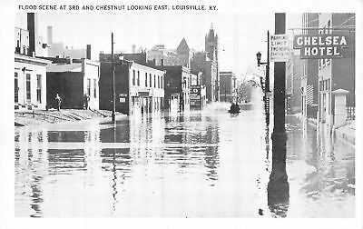 C09-3898, Flood Scene At 3Rd And Chestnut Looking East, Louisville, Ky.