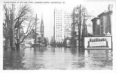 C09-3899, Flood Scene At 4Th And York, Louisville, Ky.