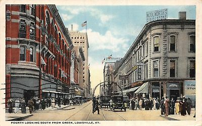 C09-3928, Fourth Avenue, Louisville, Ky. 1921 Postmarked.