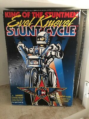 Evel Knievel Super Stunt Cycle With Figure & Gyro Launcher