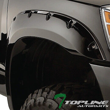 Topline For 2004-2008 Ford F150 Black Pocket Rivet Style Fender Flares Kit Cover