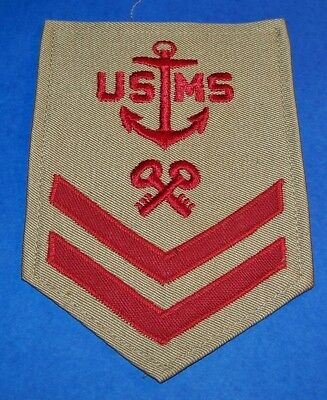 ORIGINAL TWILL WW2 U.S. MERCHANT MARINE STOREKEEPER 2nd CLASS RATING PATCH