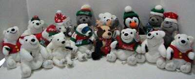 Lot of 16 Adv Coca Cola Bean Bag Plush/Polar Bear/Seal/Reindeer/Penguin NWT