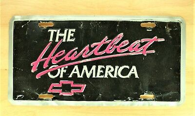 """the Heartbeat Of America Chevy Metel Front Novelty License Plate Car Tag 119"