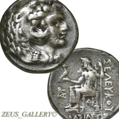 Rare ALEXANDER THE GREAT type Seleukos I Ancient Greek Silver Tetradrachm SUSA