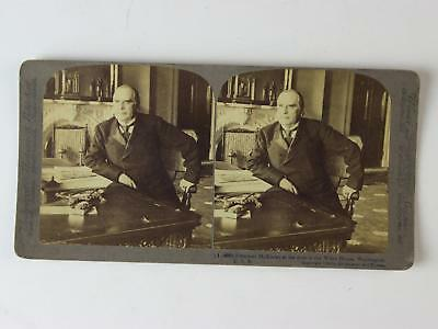 LOT: NIne 1899 STEREOVIEW CARDS of PRESIDENT MCKINLEY & INAGURATION~