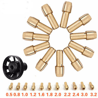 10pcs/Set Mini Drill Brass Collet Chuck for Rotary Tool 0.5-3.2mm