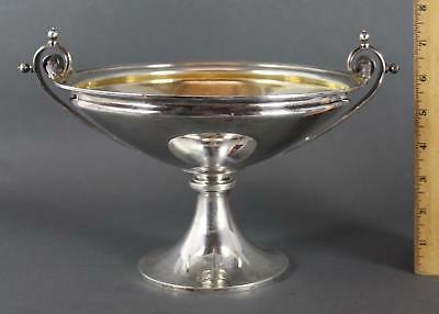 Antique 19thC Aesthetic Sterling Silver Compote Dessert Plateau Compote