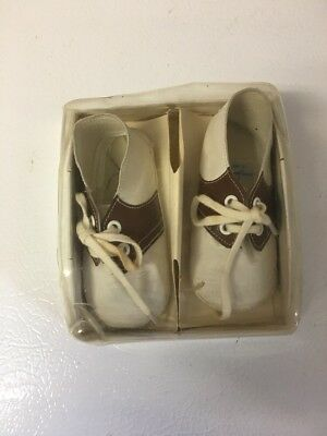 Vintage Mrs Day's Ideal Baby Crib Shoes Size 1 Original Box Leather