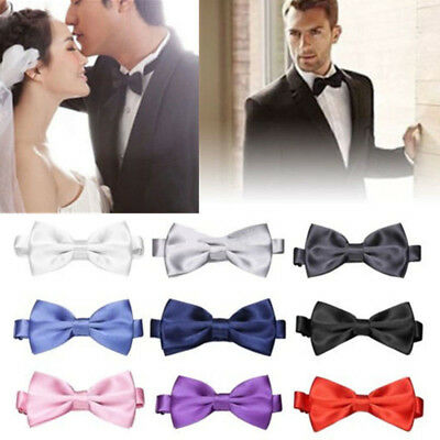 Men Fashion Tuxedo Classic Solid Color Butterfly Wedding Party Bowtie Bow Tie