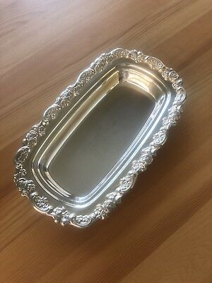 Antique Silver Butter Dish - Polished