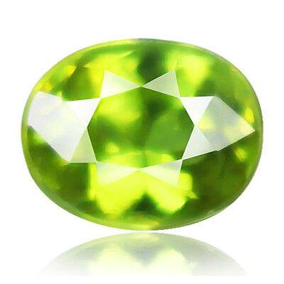 1.87ct 100% Natural earth mined rare aaa green color sphene / titanite russia