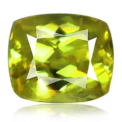 1.36ct 100% Natural earth mined yellowish green color sphene / titanite russia