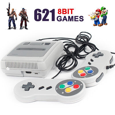 Classic Retro Super Nintendo Mini SFC Game Console Gamepads 621 Games HDMI 4K TV