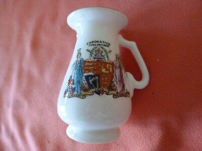 A 'foley' Piece Of Crested China -- A Coronation Pot