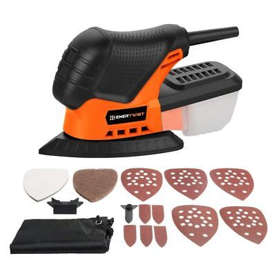 Mouse Detail Sander, ENERTWIST 13000OPM Lightweight Compact Sander with Dust...