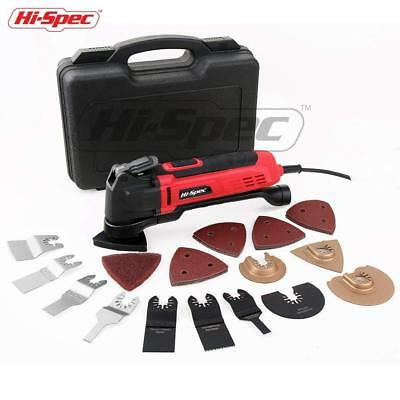 Hi-Spec 2.5A (300w) Oscillating Multi-Tool with Keyless Tool Changing, 38pc...
