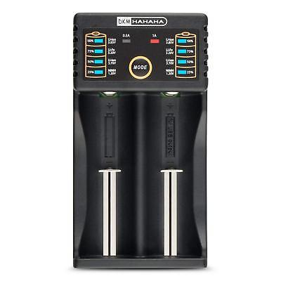 Battery Charger 2Bay for 18650 26650 AA AAA Rechargeable Batteries With USB Port
