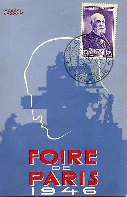 Carte / Foire De Paris 1946 Philatelie / Henri Becquerel