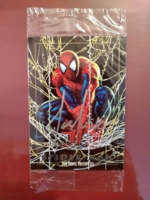Marvel Masterpieces (1992) Spider-Man Prototype Card in package Signed Joe Jusko