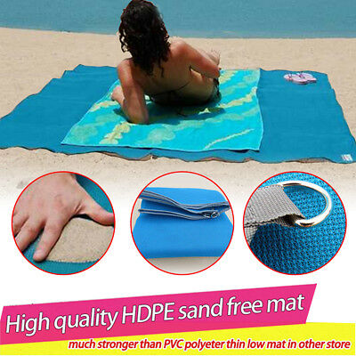 2x2M Beach Mat Sand Free Waterproof Fun Camping Outdoor Picnic Rug Mattress Pads