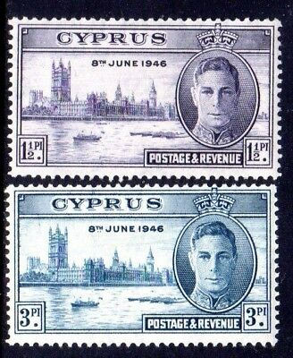 1946 CYPRUS VICTORY SG164-165 mint unhinged
