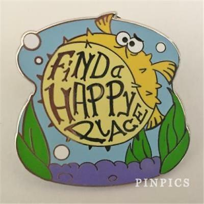 """2016 Finding NEMO BLOAT """"FIND A HAPPY PLACE"""" Disney PIN 114908"""