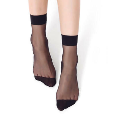 8259453600c 10 Pair Ultra-thin Transparent Short Crystal Stockings Ankle Socks Women  Elastic