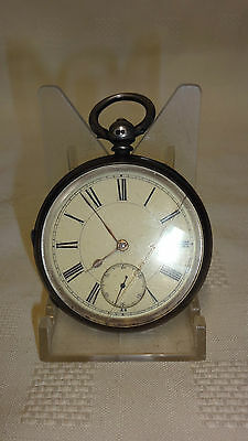 Antique Sterling Silver Large Pocket Watch - Birmingham 1897 A/F