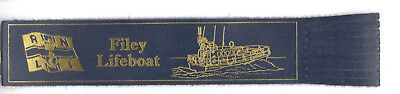 Leather Bookmark RNLI Filey Boat Cornwall Cornish Royal National Lifeboat Gift